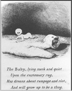 And THAT is why I'm never having kids. (Illustration by Edward Gorey.)