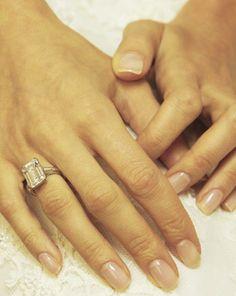 Amal Alamuddin.. engagement ring and wedding nails.. clear and natural..