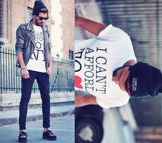 I CAN'T AFFORD TO LOVE NY (by Mohcine Aoki) http://lookbook.nu/look/4120178-I-CAN-T-AFFORD-TO-LOVE-NY