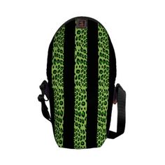 Striped Green Leopard Courier Bags