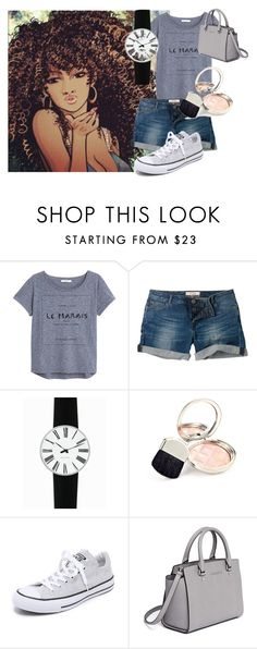 """""""get snazzy"""" by kaykatty-kb on Polyvore featuring MANGO, Fat Face, Rosendahl, By Terry, Converse and MICHAEL Michael Kors"""