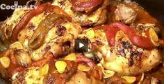 Pollo asado con pimientos: http://www.recetascomidas.com/videos/video_de/pollo-asado-con-pimientos - #recipes #recetas #videos