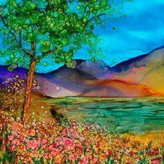 Teri Jones ~ Looks like the flowers have dimension ? ? ? ...M