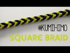 kumihimo square- kumihimo cuadrado - YouTube