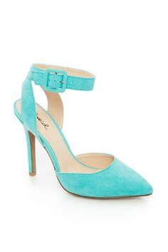 ShopSosie: D'Orsay Ankle Strap Pump in Mint. On sale for $20!