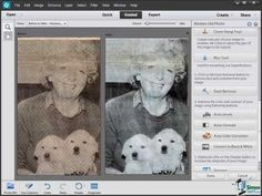 How to restore an old black and white photo using Photoshop Elements 12