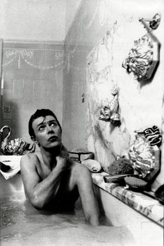 David Bowie in the tub