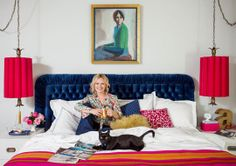 Emily Henderson's bedroom » Her work inspires me. Love the colors, textures and patterns, so sophisticated and fun!