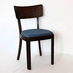 retro-design / Hnedo modrá retro stolička