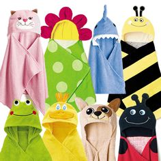 Hooded Towel reg.  $19.99 Stay warm while being ultimately cute!! Super sweet hooded bath towels; choose from Tiger, Dinosaur, Owl or Zebra  #children  #kids  #avon