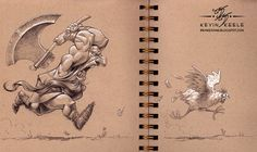 Wonderful sketchbook drawing by kevin keele in Illustration & Painting Sketchbook Drawings, Illustration Sketches, Art Drawings, Sketching, Toned Paper, Paper Drawing, Cool Sketches, Sketchbook Inspiration, Character Design Inspiration