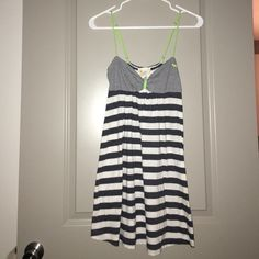 Victoria's Secret PINK summer dress White and navy striped summer dress/pool cover up PINK Victoria's Secret Dresses Mini