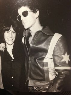 """"""" Lou Reed and Patti Smith From """"CBGBs & OMFUG Thirty Years of Underground Rock""""   """""""