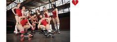 Roller Derby Workout video... Verdict: Definitely playing up the sexy-ladies-in-booty-shorts aspect, but holy shit this is a great workout!