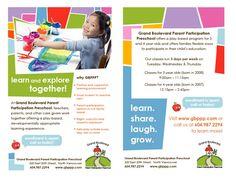 {i design} preschool flyer. from Daffodil Design