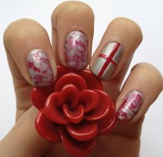 English roses and the flag? Perfect!
