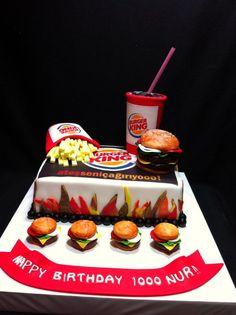 burgerking,hamburger,cake,fondant,cakeart