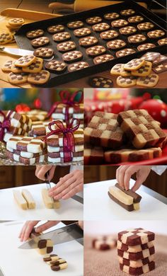 checkerboard shortbread cookies black and white checkers christmas traditional croatian recipe how to easy fast better baking bible blog