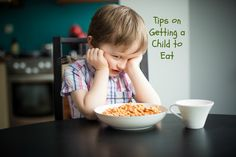 Some children are very fussy eaters. They can really try our patience at times. Learn tips of getting a child to eat and plan some strategies of your own so your child will eat when meals are served.