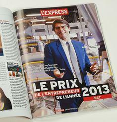 Réalisation de portraits photographiques pour l'hebdomadaire l'Express - Prix de l'Entrepreneur de l'année 2013