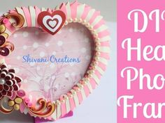In this video you will find how to make beautiful origami heart shape photo frame for valentines day gift or anniversary gift in easy steps. 3d Origami Herz, Origami Star Box, Origami Patterns, Quilling Patterns, Quilling Ideas, Quilling Photo Frames, Quilling Supplies, Origami Love Heart, Photo Frame Design