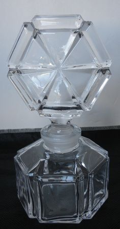 Vintage Glass Perfume Bottle With Stopper