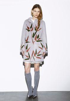 Byte by Giuliana Teso Floral Mink Fur Coat