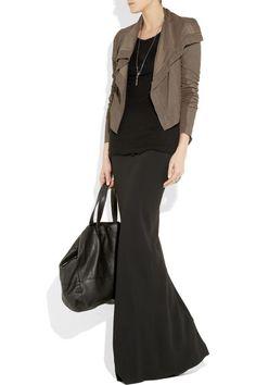 love the winter maxi skirt look