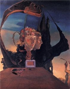 Salvador Dalí.Портрет виконтессы Мари-Лауры де Ноай.1932 г.