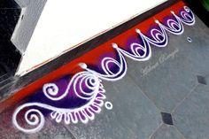 Border rangoli designs for home. Rangoli Designs Photos, Easy Rangoli Designs Videos, Simple Rangoli Border Designs, Easy Rangoli Designs Diwali, Indian Rangoli Designs, Rangoli Designs Latest, Rangoli Borders, Rangoli Designs Flower, Rangoli Patterns
