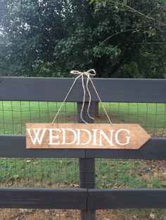 Wedding Sign with Arrow - Rustic Wedding - Wedding Signage