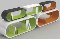 pill shaped book shelf / storage
