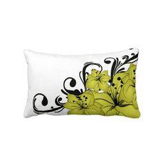 Gold, Black & White Lumbar Pillow $49.95
