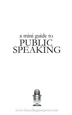 A Mini Guide to Public Speaking