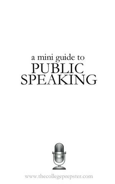 I was asked last week to do a post about public speaking. I love public speaking. Even though I have extreme anxiety issues, public speaking is something that comes pretty naturally. Probably because I love to talk. (Whoops!) If public speaking is something that really isn't your thing, but something you have to do from time...