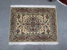 1980s Vintage Kashan Persian Rug (3346) by carpetshopprincess on Etsy