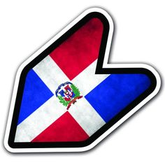 "DOMINICAN REPUBLIC - 4"" Flag Grungy JDM Wakaba Shoshinsha Mark New Driver Badge Leaf Sign Car Bumper Stickers Decals Adelia Co http://www.amazon.com/dp/B016HCNK7E/ref=cm_sw_r_pi_dp_qqohwb1BWF7FT"