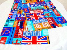 London retro table runner  Custom 16x84 runner  by SABDECO on Etsy