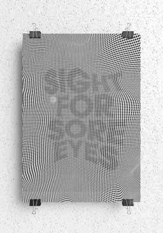 This is a visually stimulating poster series that plays with optical tricks and illusions in deceptively simple ways. Urban Design Concept, Graphisches Design, Design Elements, Grafik Design, Op Art, Optical Illusions, Typography Design, Design Inspiration, Sore Eyes
