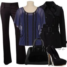 """Black and Blue"" by styleofe on Polyvore by agnes.dembowski"