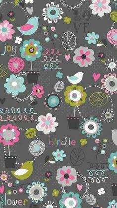 Super Ideas For Screen Savers Wallpapers Vintage Flower Backgrounds, Wallpaper Backgrounds, Cellphone Wallpaper, Iphone Wallpaper, Doodle Play, Textures Patterns, Print Patterns, Scrapbook Paper, Scrapbooking