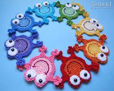 CROCHET PATTERN - Hoppy Frogs - a crochet frog pattern, frog applique pattern…