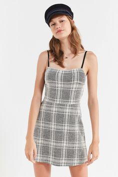 Shop UO Cher Plaid Straight-Neck Mini Dress at Urban Outfitters today. We carry all the latest styles, colors and brands for you to choose from right here.