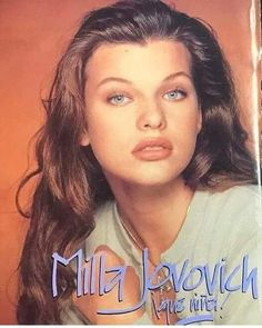 Young Milla Jovovich Gorgeous Eyes, Beautiful Women, Kim Basinger, Milla Jovovich, First Daughter, I Icon, Covergirl, Beautiful Actresses, Girl Crushes