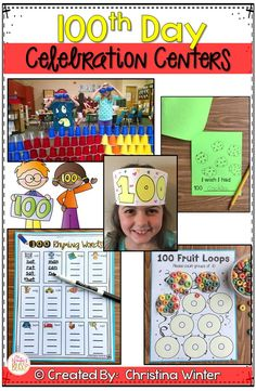 These 100th day of school fun activities are easy to prep celebration centers for kindergarten, first, and second grade students!