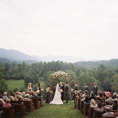 misty hilltop ceremony   Clark Brewer #wedding