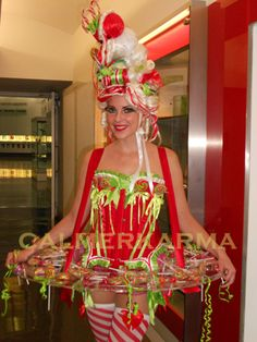 'Kiss my Lollipop' candy girl and canape hostess essential for all luxury Christmas Parties