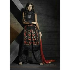 Designer Black Georgette Embroidered Palazzo Suit - 6002-A ( MJ-DREAMZ 6 )