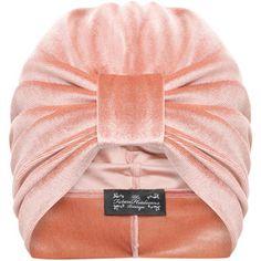 The Future Heirlooms Boutique Ava Velvet Turban in Nude