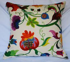 BEAUTIFUL FLORALS: Exotic Floral Design Decorator Pillows BangaruBags.com